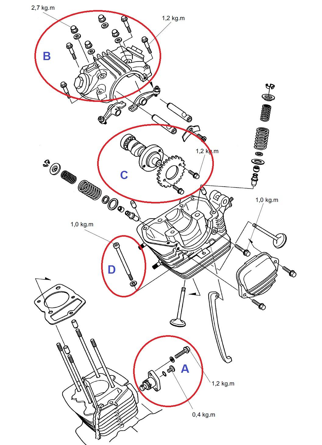 Diy Bongkar Mesin Megapro Head Dan Silinder Bagian 5 Noken As Tiger Cylinder